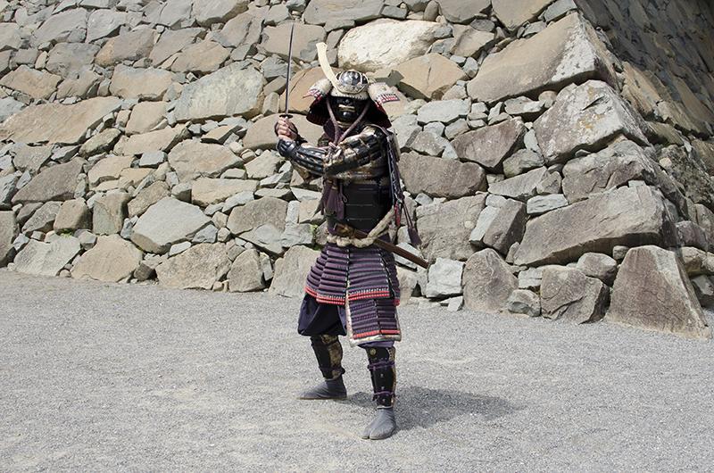松本城の武士
