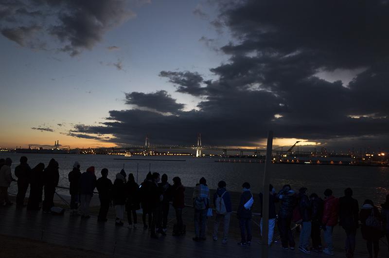 初日の出・大さん橋・夜明け前