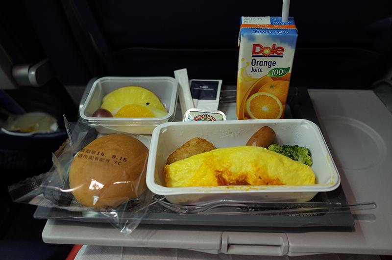 アメリカの旅2014:デルタ航空・朝ごはん
