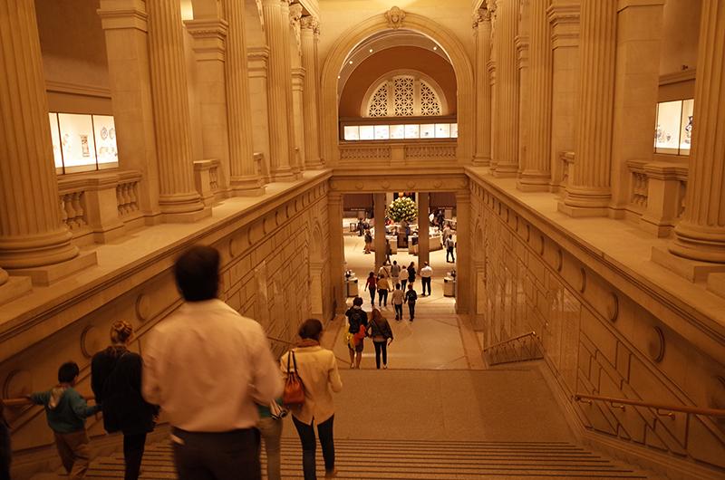 アメリカの旅2014:メトロポリタン美術館・階段