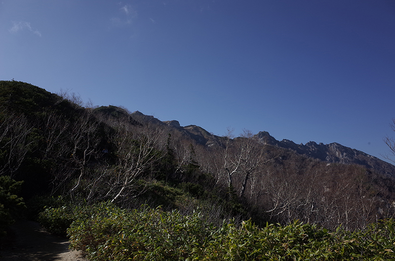 燕岳:登山中