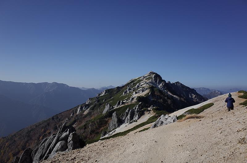 燕岳:昼間の山頂
