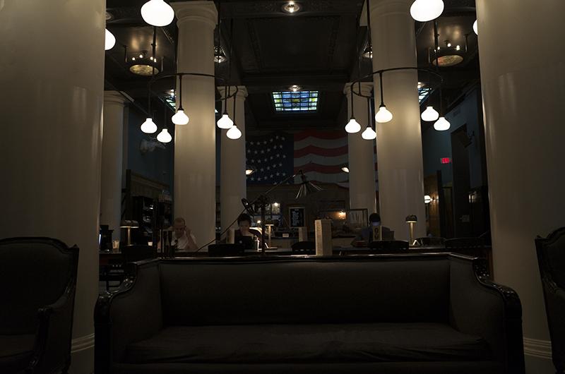 アメリカの旅2014:エースホテルNYのロビー
