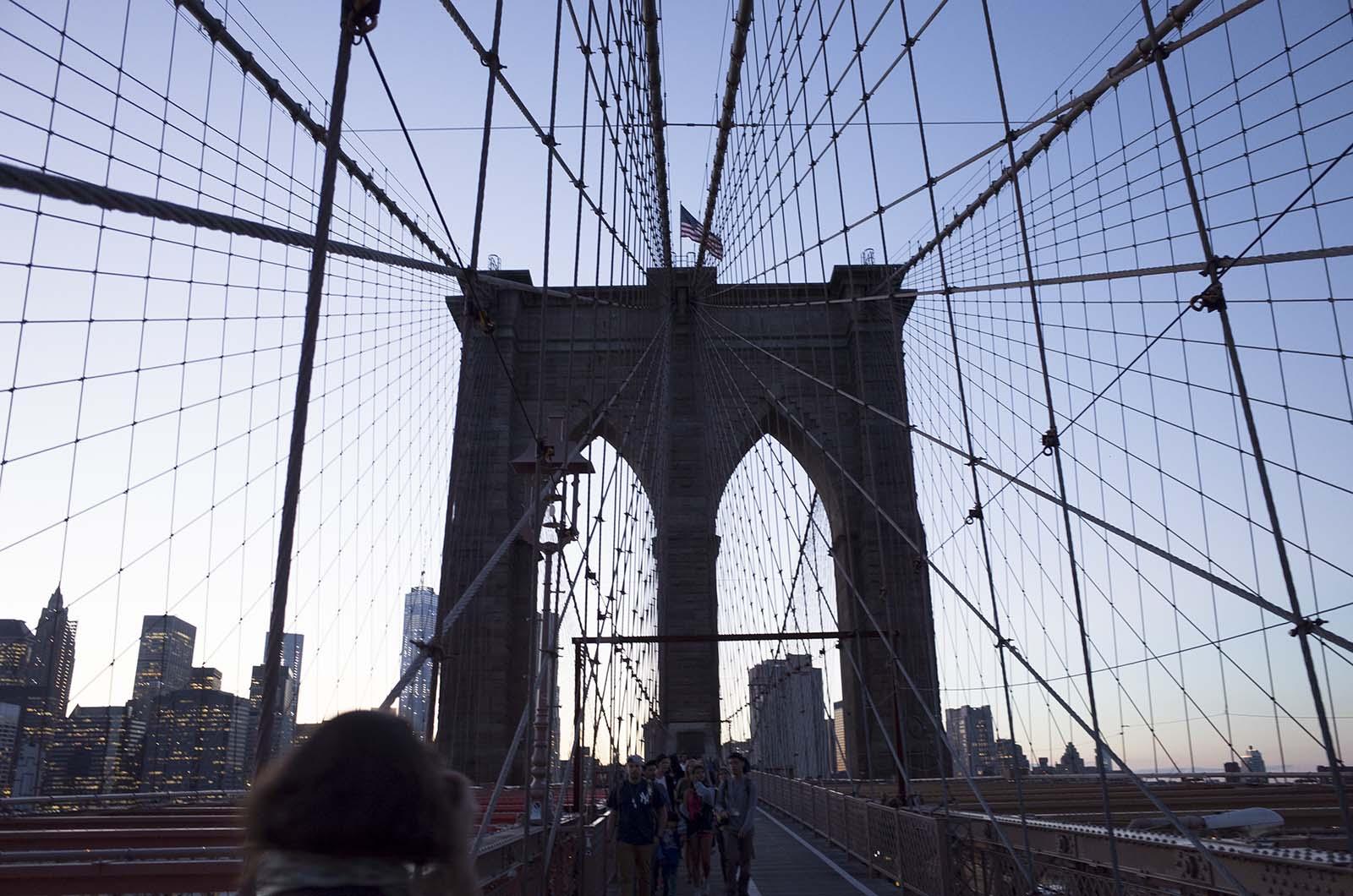アメリカの旅2014:またブルックリンブリッジ渡る