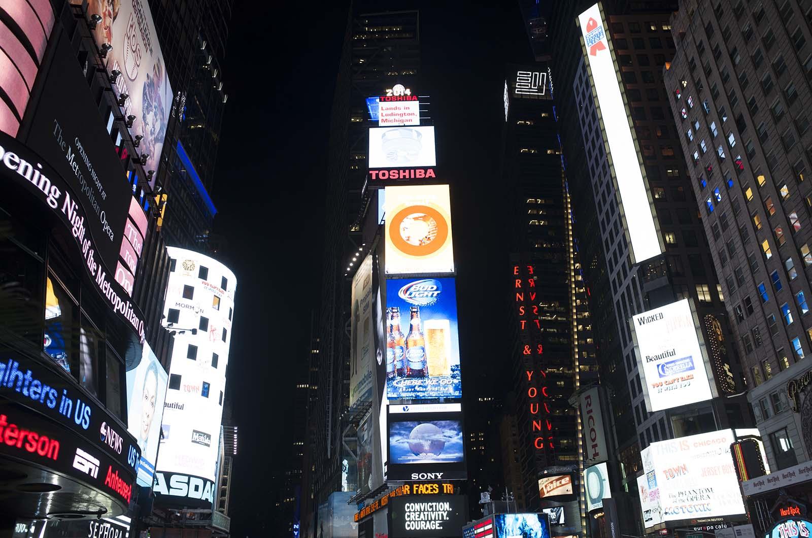 アメリカの旅2014:Times Square