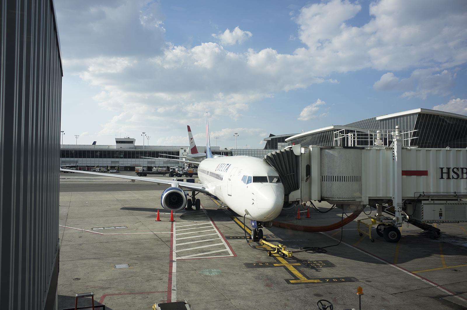 アメリカの旅2014:JFKterminal2乗る飛行機
