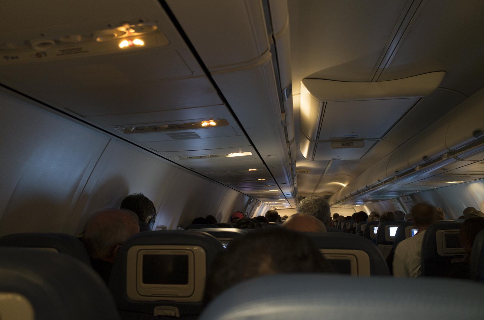 アメリカの旅2014:Portland行き機内